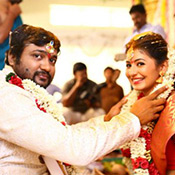 Bobby simha - reshmi menon marriage photos