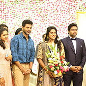 KS Ravikumar daughter Malika and Arjun Krishnan's wedding reception Stills